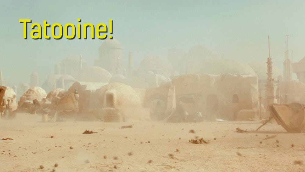 An image of the Star Wars planet Tatooine