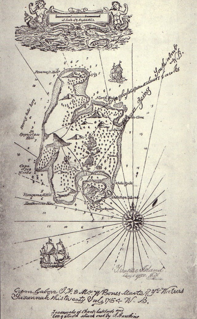 Map drawn by Robert Louis Stevenson