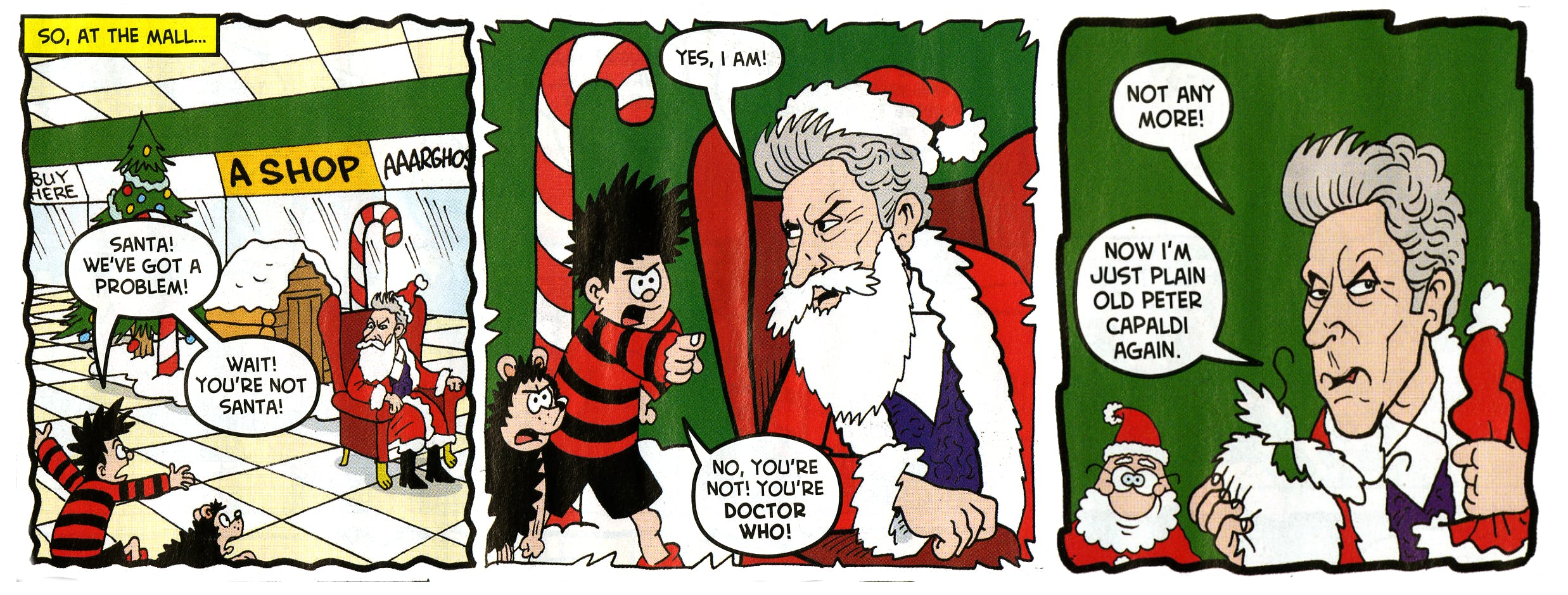 Doctor Who star Peter Capaldi featured in a Beano Christmas special, published on December 9, 2017