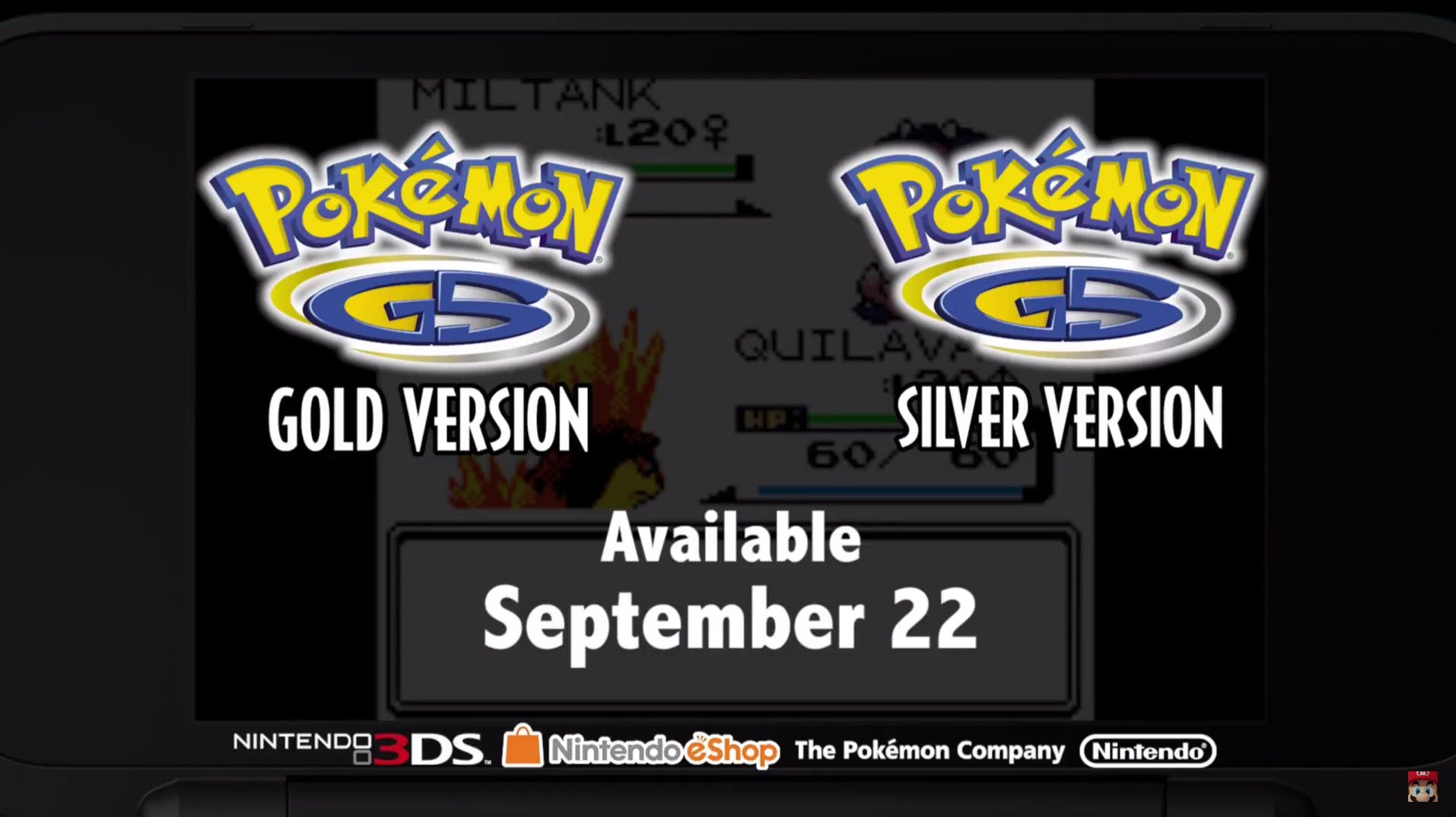 Pokémon Gold and Silver versions on the Virtual Console