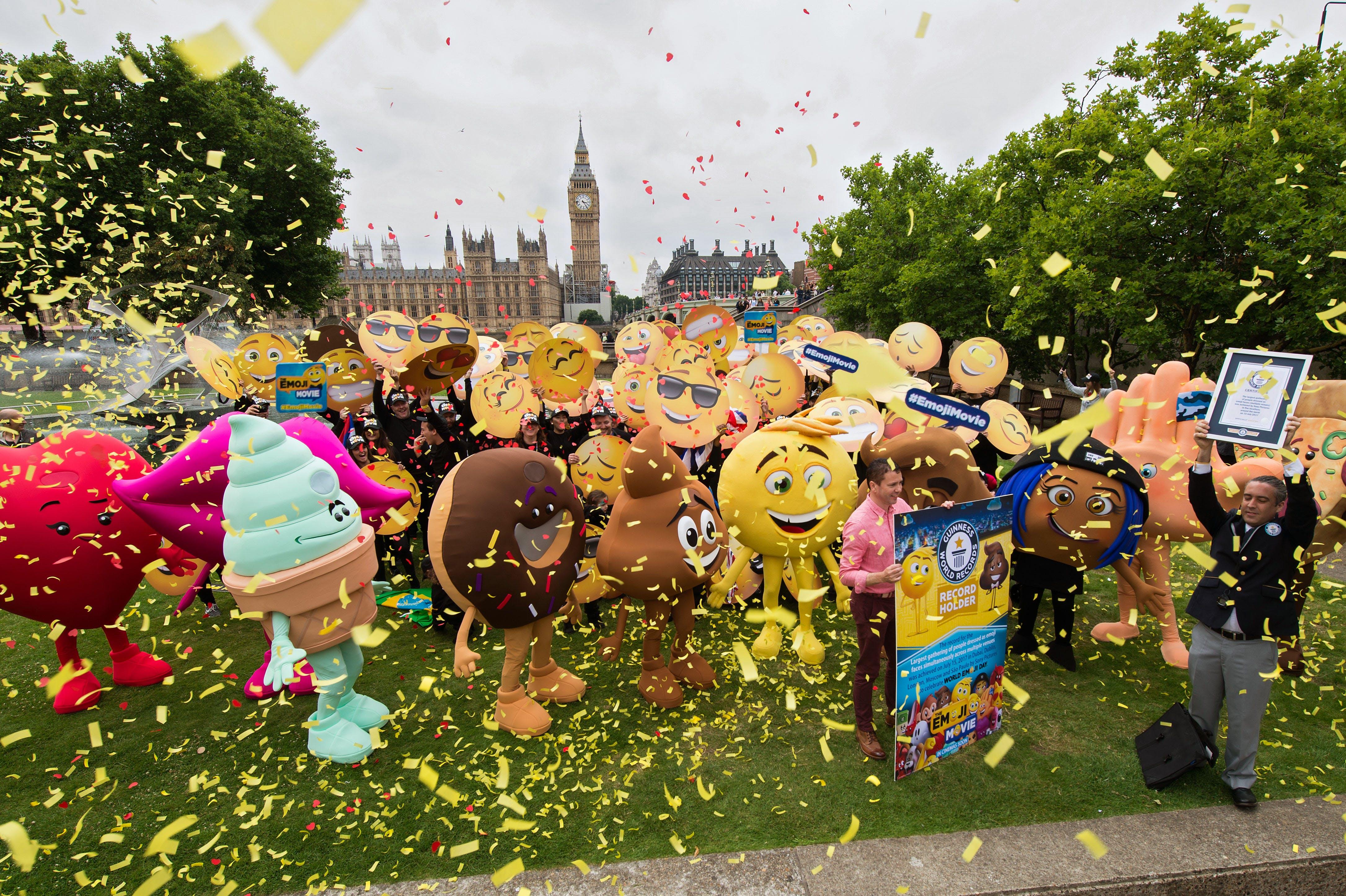 Guinness World Record international emoji gathering