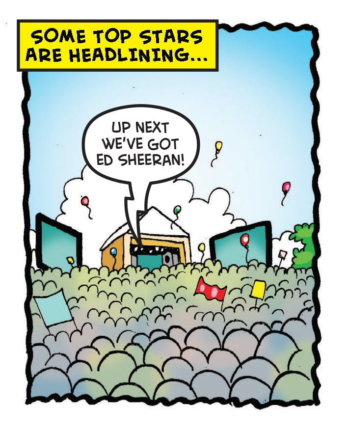 Ed Sheeran at BeanoFest, the Beano's Glastonbury