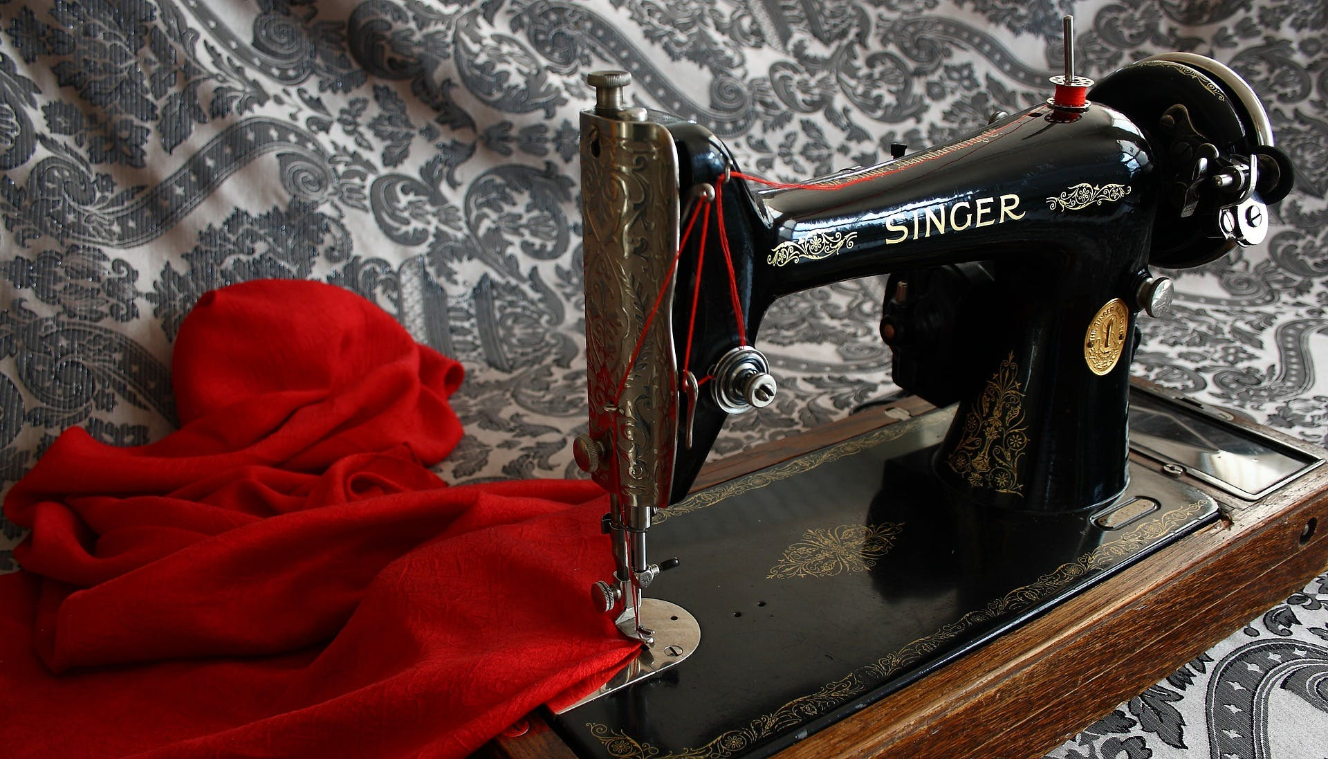 A Singer sewing machine