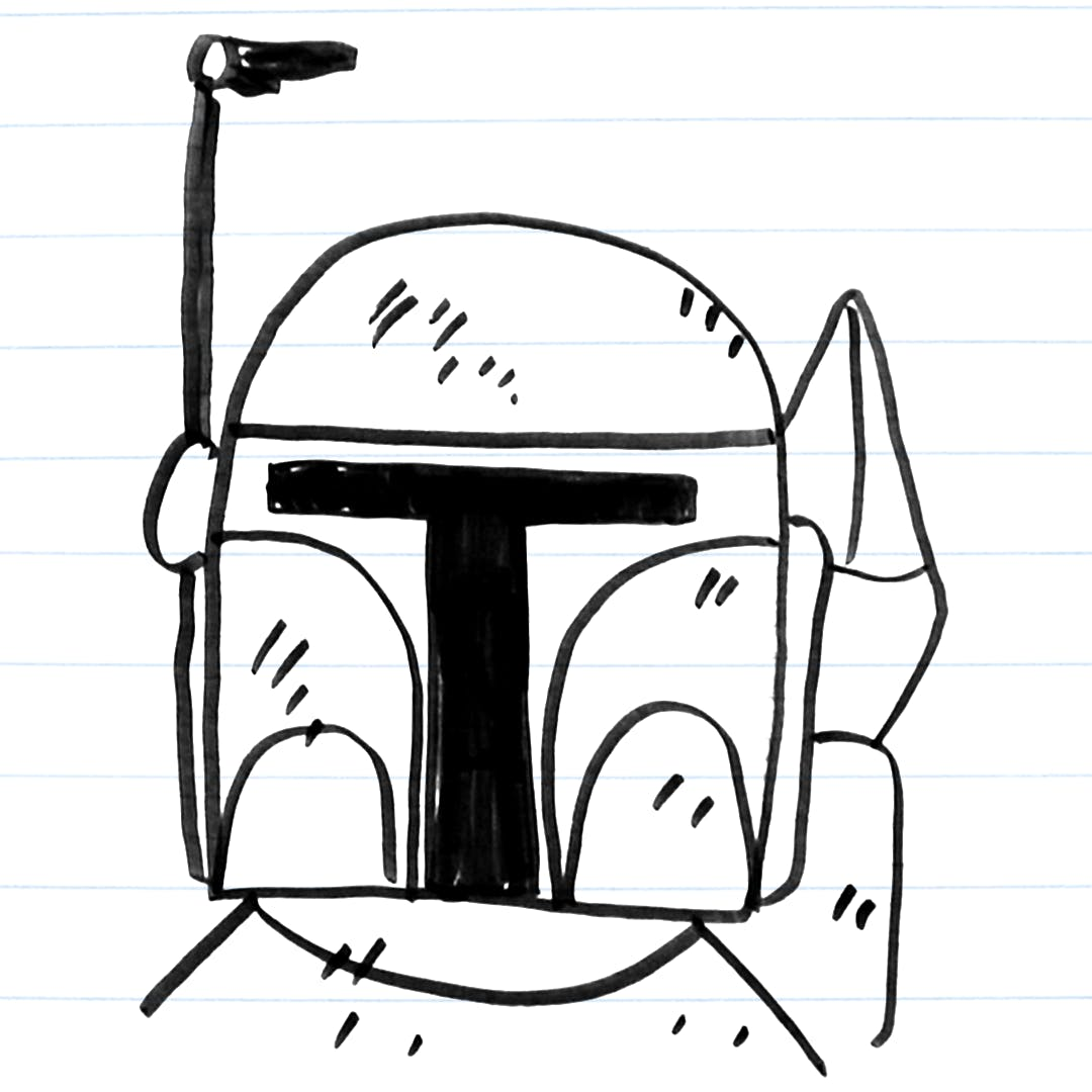 Drawing of Boba Fett