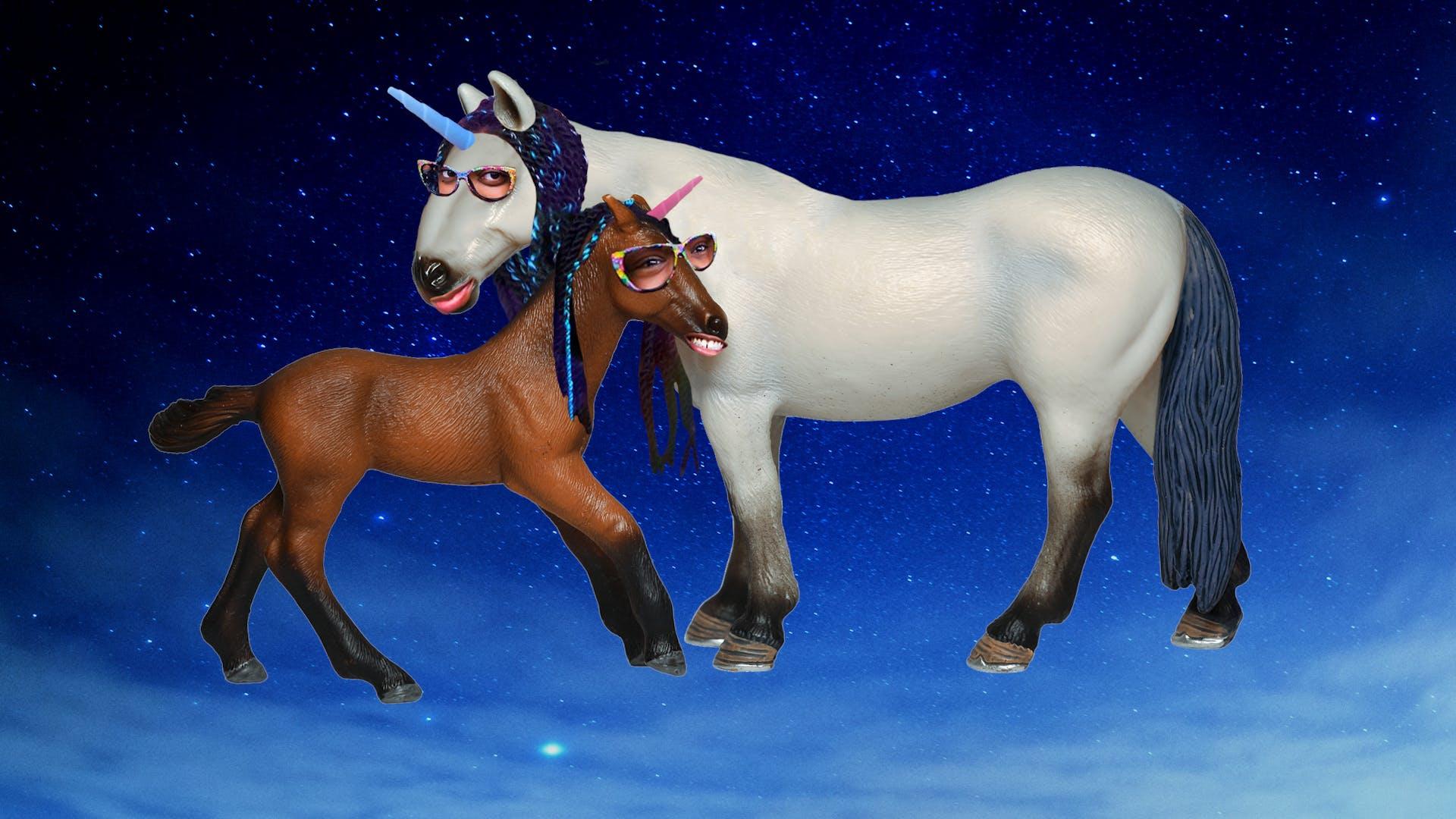 Myfroggystuff as toy unicorns