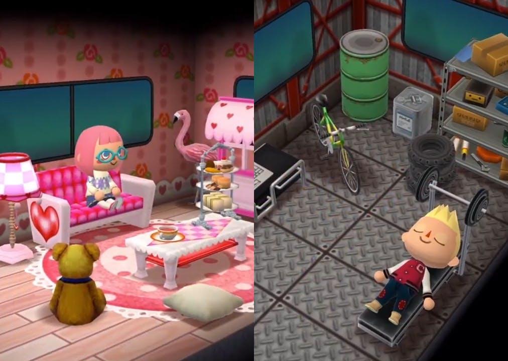 a pink van and an industrial grey van