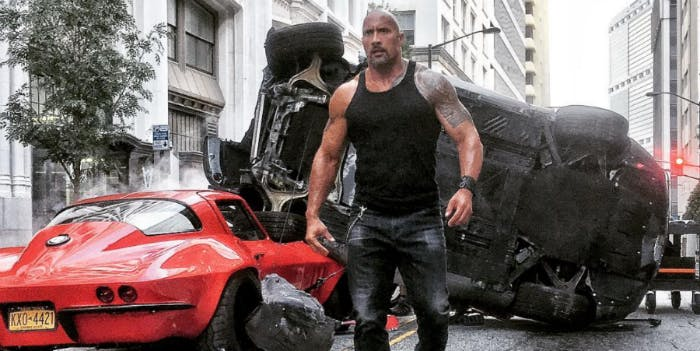 The Rock in Fast & Furious 7