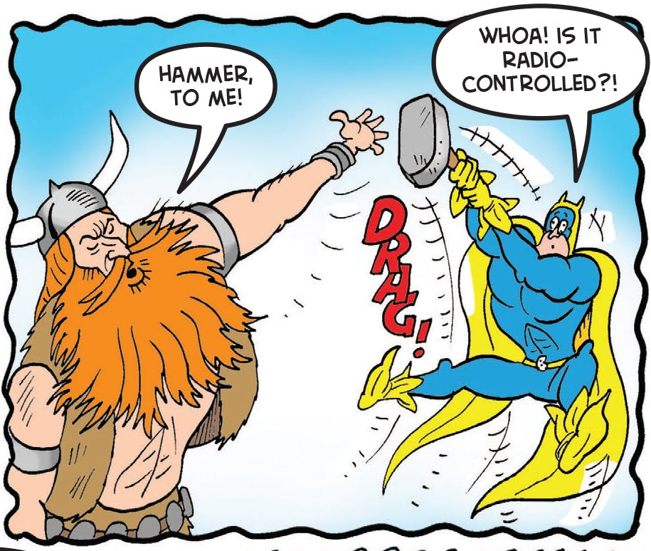 Thor tries to get it back