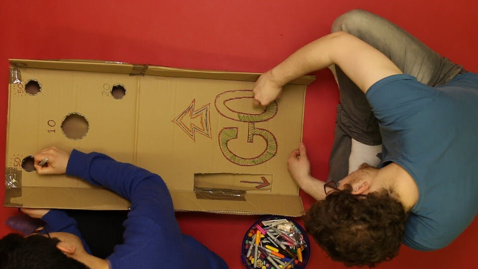 Get those decorations ready, and draw on your Skee-Ball board!