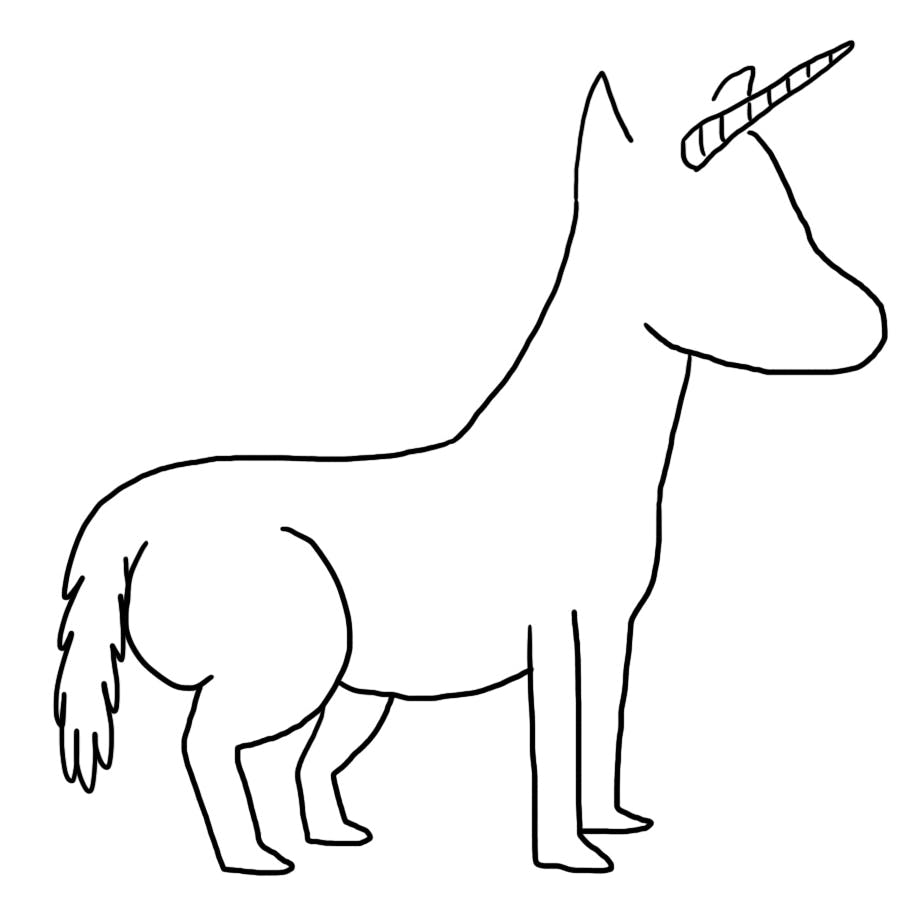 A unicorn without features