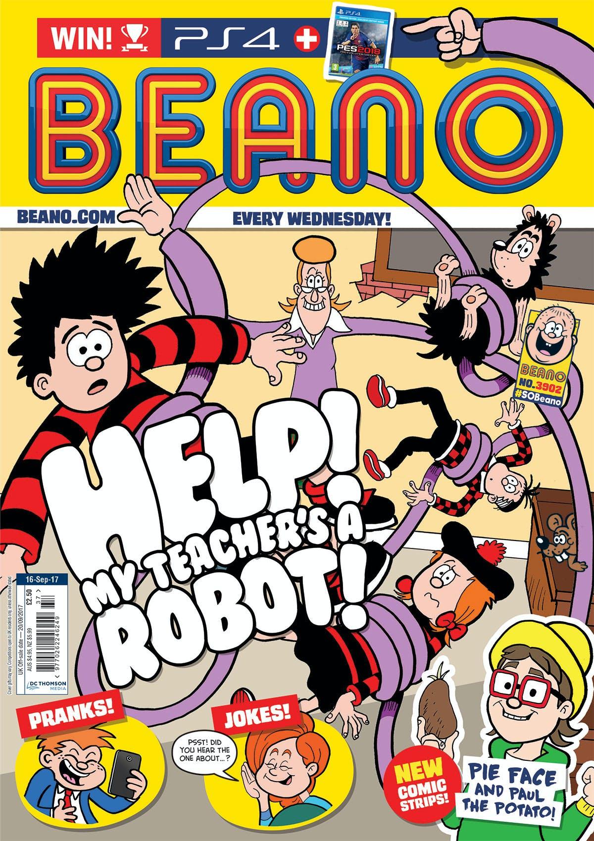 Beano No. 3902 cover - 16.9.17