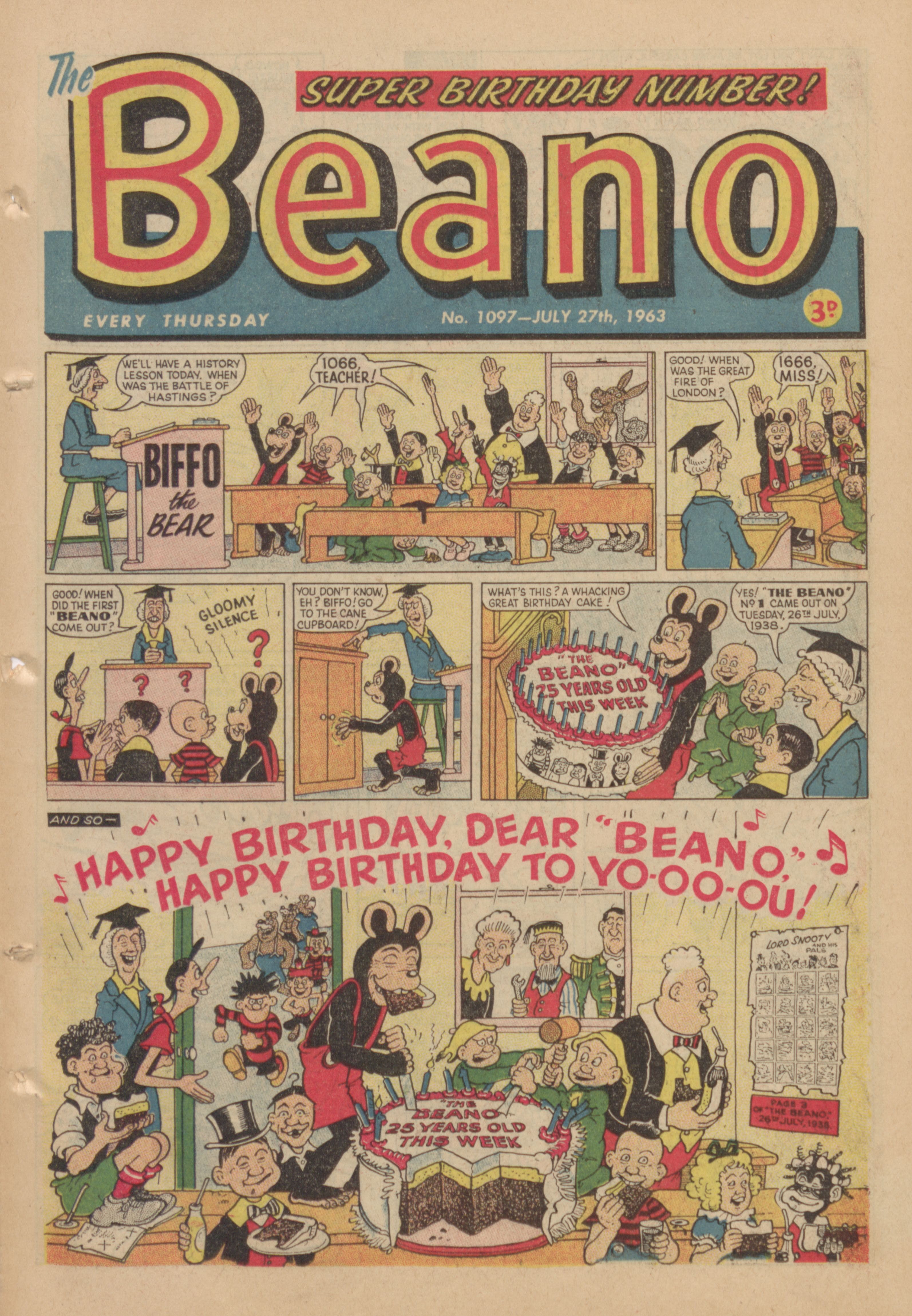 1963 beano cover