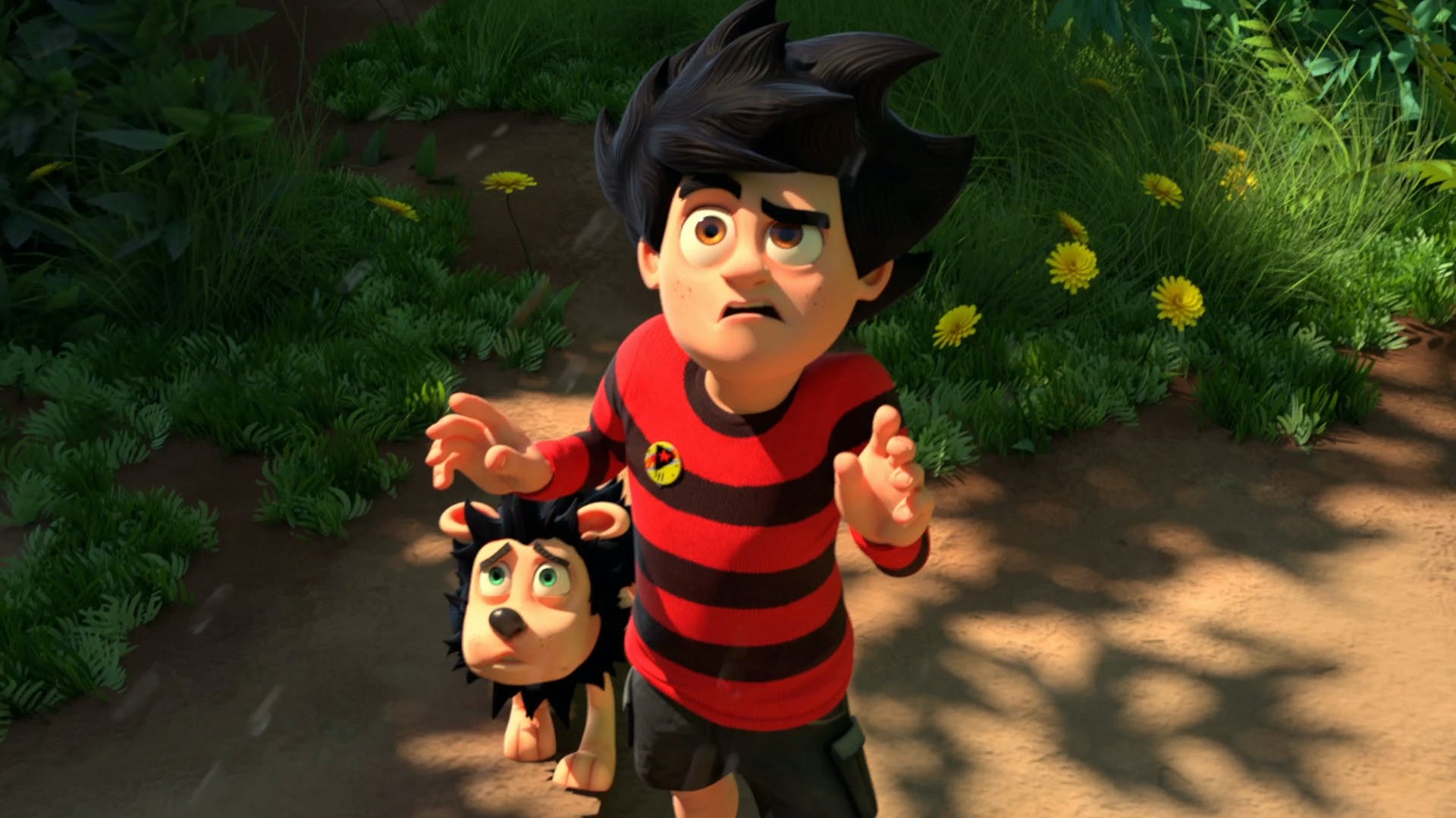 Dennis and Gnasher confused