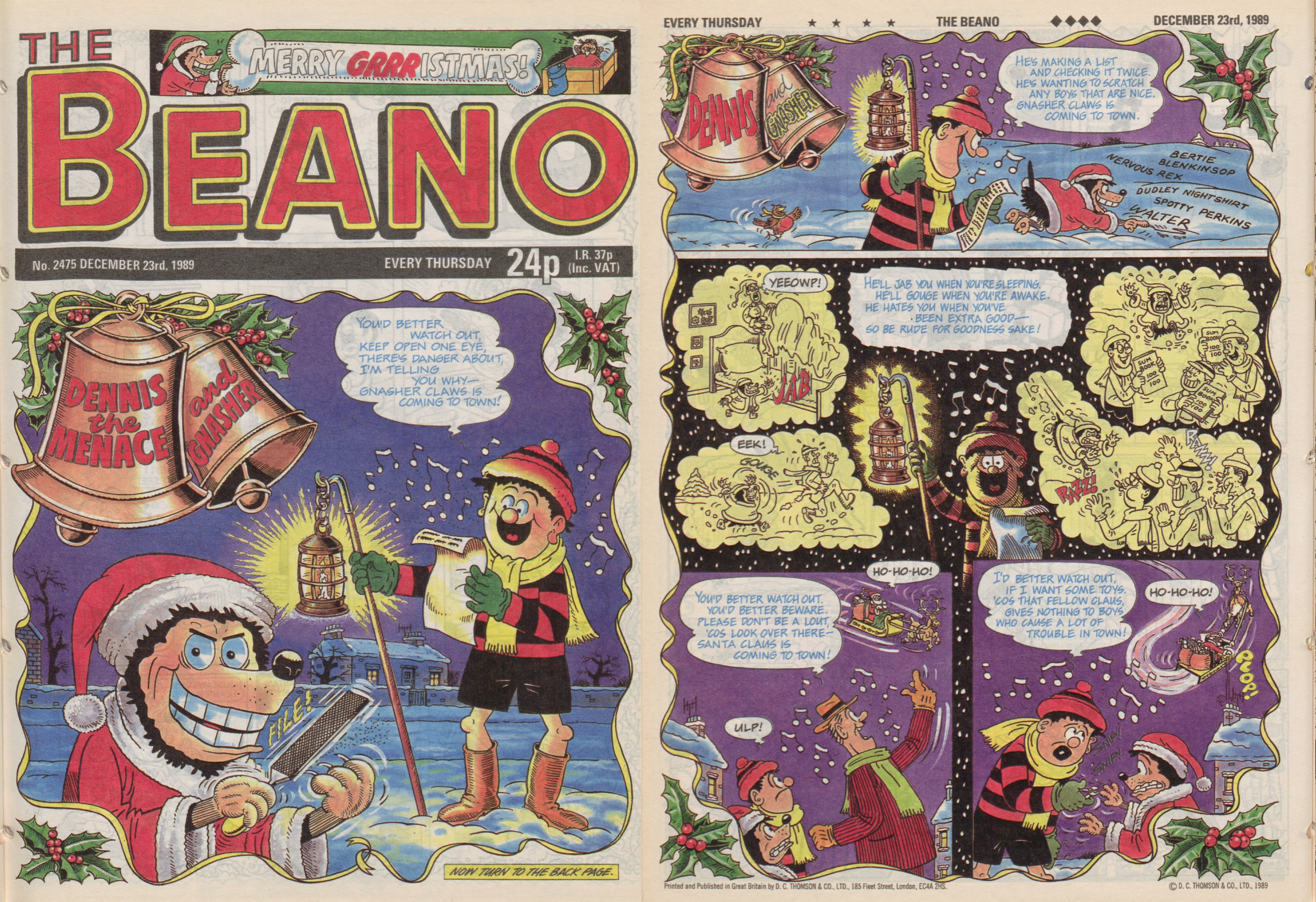 Dennis the Menace and Gnasher Christmas 1989