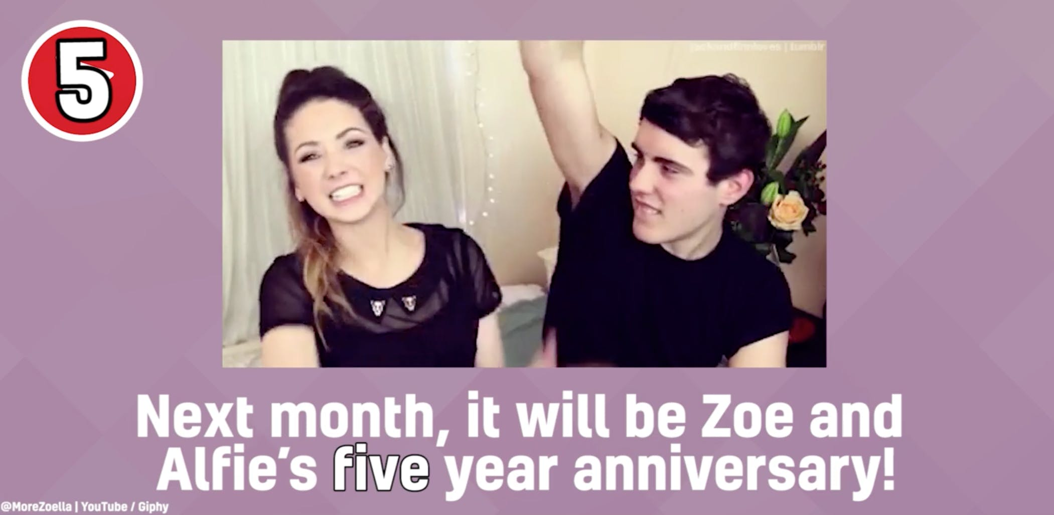 Zoella, YouTube beauty vlogger – and her boyfriend Alfie