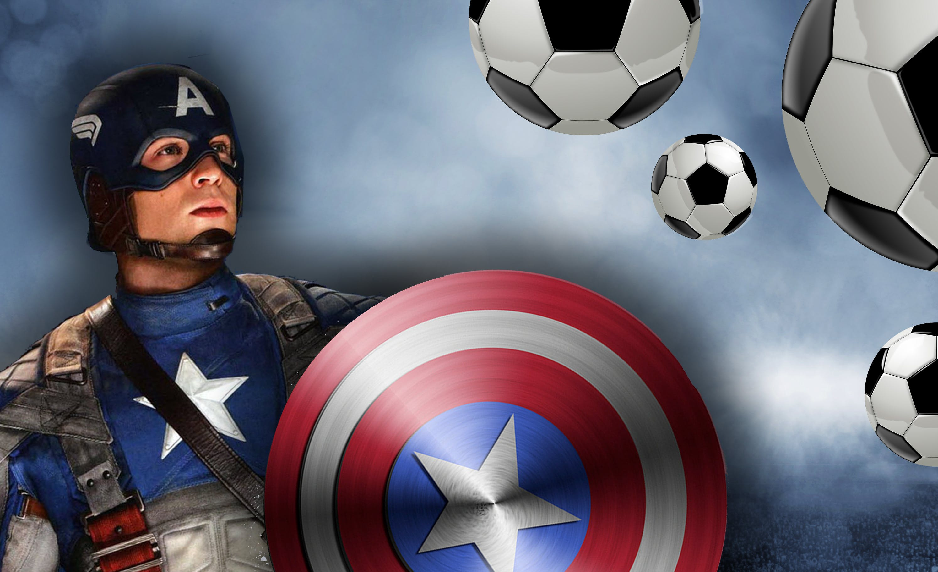 Captain America could take on an army of footballers