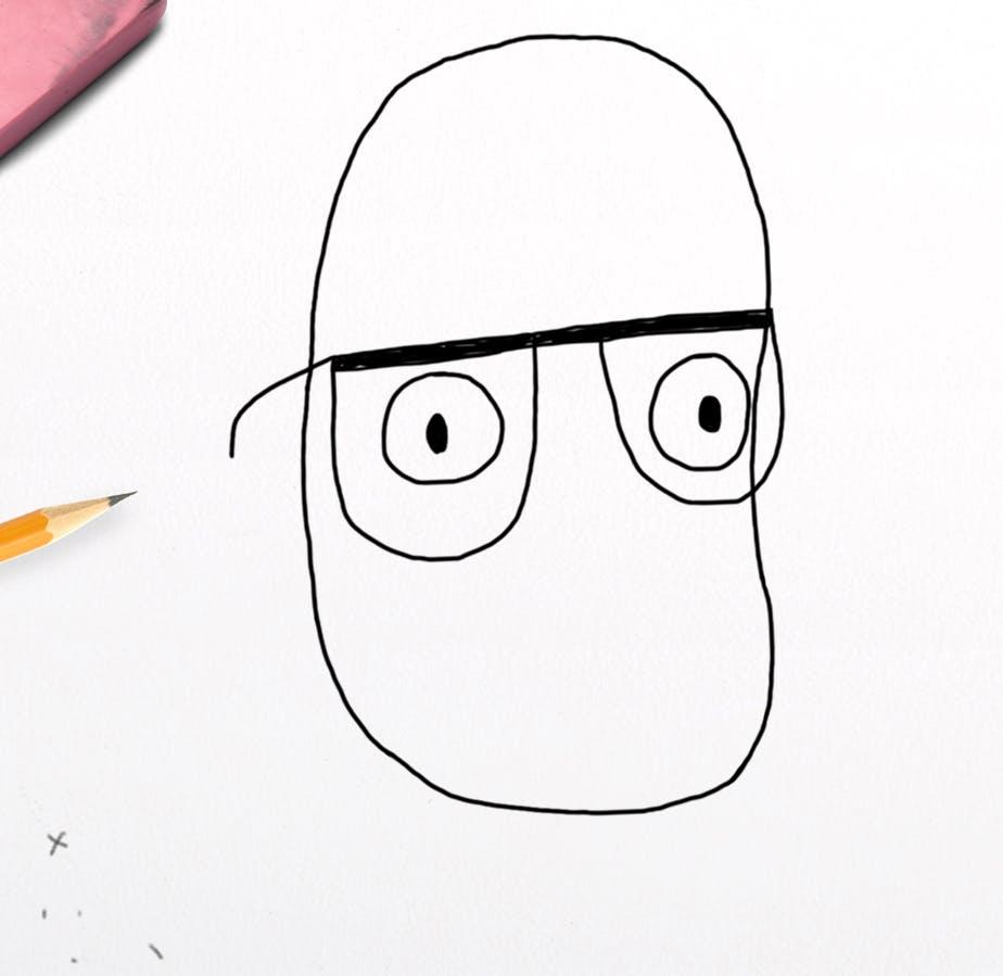 The bean has glasses!