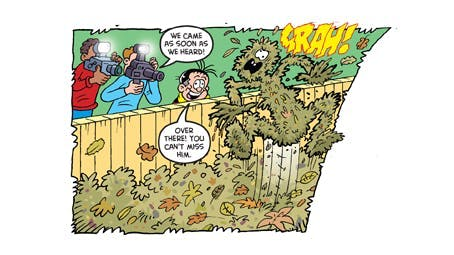 Roger the Dodger leaves it, from Beano