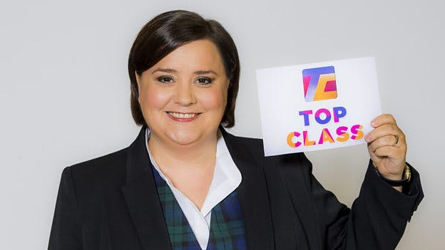 Susan Calman hosts Top Class on CBBC