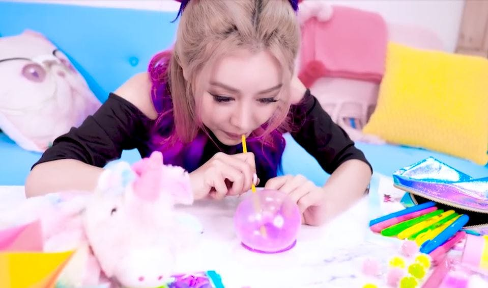 Making slime bubbles